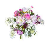 Beautiful bouquet artificial flowers — Stock Photo