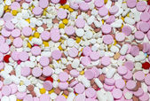 Colorful of many medicines — Stock Photo
