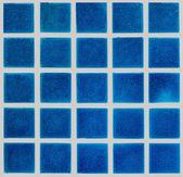 Blue ceramic tiled floor — Stock Photo
