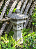 Japanese stone lantern — Stock Photo