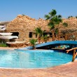 Stock Photo: Egypt - specific bar with swimming-pool in resort Nuweiba