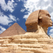Pyramid and Sphinx at Giza — Stock Photo #20235603