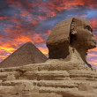 Pyramid and Sphinx at Giza — Stock Photo #20235621