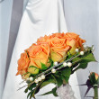 The bride with wedding bouquet — Stock Photo