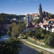Chateau Tower in Cesky Krumlov - Stock Photo