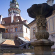 Chateau Tower in Cesky Krumlov — Foto de Stock