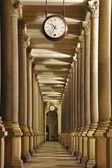 Carlsbad - colonnade with o'clock — Stok fotoğraf