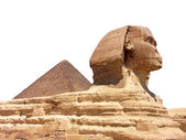 Pyramid and Sphinx at Giza — 图库照片