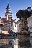 Zámecké věže v českém krumlově — Stock fotografie