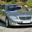 Stock Photo: Silver Mercedes Benz