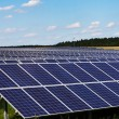 Stock Photo: Solar panels in nature