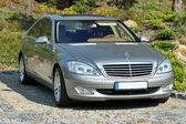 Silver Mercedes Benz — Stock Photo