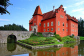 Noted red castle Cervena lhota — Stock Photo