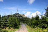 Liberec - transmitter Jested — Stock Photo