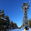 Tower Cerna hora (Black mountain) in winter — Stock Photo