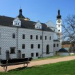 Renaissance castle in town Pardubice - Stock Photo