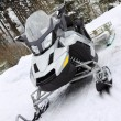 Stock Photo: Scooter on snow