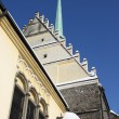 Gothic church in city Pardubice - Stock Photo