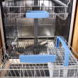 Stock Photo: Dishwasher with cledishes