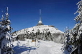 Transmitter Jested in winter — Stock Photo