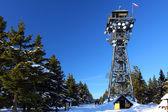 Tower Cerna hora (Black mountain) in winter — Stock Photo