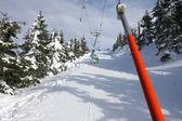 On ski tow — Stock Photo