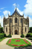 St. Barbora cathedral in Kutna Hora — Stock Photo