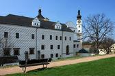 Renaissance castle in town Pardubice — Stock Photo