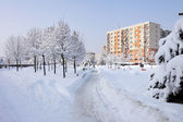 Pardubice city in winter — Stock Photo