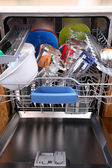 Dishwasher with clean dishes — Stock Photo