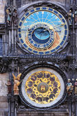 Astronomical horoscope clock — Stock Photo