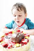 Birthday party celebration — Stock Photo