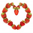 Heart  of  strawberry - Stock Photo