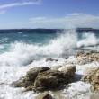 waves against rocks — Stock Photo