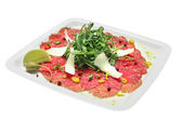 Fresh carpaccio — Stock Photo