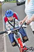 Sport on bicycling — Stock Photo
