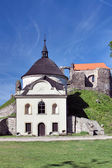 Potstejn stronghold and church — Stock Photo