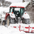 Czech Republic Mountains Jizerske Hory Snowblower On Road In Bedrichov — Stock Photo #38259501