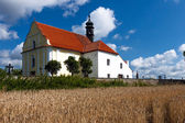 Small Church Near Cemetery and Village Rabi — Stock Photo