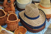 Straw hat — Stockfoto