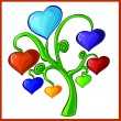 Royalty-Free Stock Векторное изображение: Hearts tree. Vector illustration. Isolated on white.
