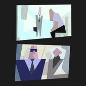 Vida de la oficina de dibujos animados vector — Vector de stock