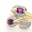 Ruby Diamond Ring — Stock Photo
