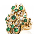 Emerald Diamond Ring — Stock Photo
