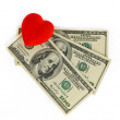 Stock Photo: Heart and money