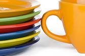 Kleurplaten en cup — Stockfoto
