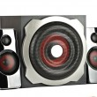 Stock Photo: Speaker system with subwoofer