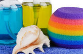 Set of bath accessories close-up — Stock Photo