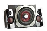 Speaker system with subwoofer — Stock Photo