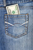 Money in your pocket — Stock Photo